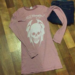 Ed Hardy long sleeve T-shirt size S